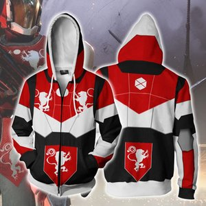 DESTINY 2 DESTINY game peripheral men's 3d sweater hot transfer hooded pullover Free shipping on high-quality designer clothing