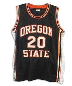 Benutzerdefinierte Männer Jugend Frauen Weinlese # 20 Gary Payton Oregon State Beavers Basketball-Jersey-Größe S-4XL oder benutzerdefinierten beliebigen Namen oder Nummer Jersey