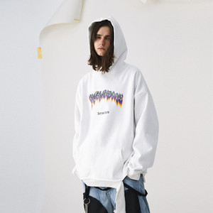 2020ss dongguan_ss en stock Blanc Noir Dernières TOP Hip-hop naturel Crewneck Hommes Femmes Mode Sweat HODDIE