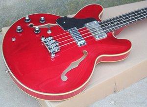 Vermelho-mão Esquerda Guitarra baixa Elétrica com Corpo semi-OCO, Preto Battipenna, 3, 4 Pickups cordas, oferecendo personalizados Serviços