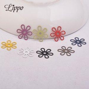 50pcs AC10911 15mm incanta il fiore in filigrana collana gioielli fai da te