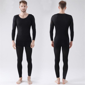 Hommes sans couture 37 degrés centigrades Thermiques Sous-vêtements sans couture élastique Thermiques intérieure Wear chaud Solid Slim Sous-vêtements pour l'hiver