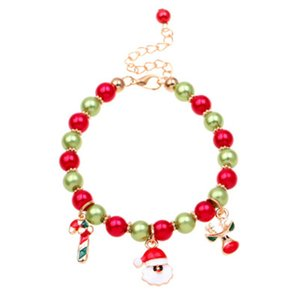 Presente de Natal 18 centímetros rena de Papai Noel Pulseira de Natal dos doces Bead Pendant Pulseira para crianças Presente de Natal Ladies