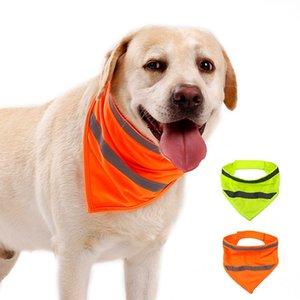 Hot-Dog-Reflective-Schal Sicherheit Pet Schal Reflecting Neon Pet Bandana Ajustable Katze Schal Pet Halstuch Hundekleidung Schutzanzug T2I51083