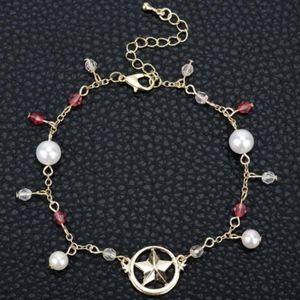 Brand Bracelets Joyería Sailor Moon Charm Pulsera Cardcaptor Sakura Cute Cat Moon Star Crystal Pearl Bangle pulsera pulsera