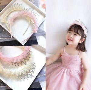 Kinder strass krone haar klebt mädchen pailletten perlen spitze falbala prinzessin stirnbänder kindergeburtstagsparty haarschmuck