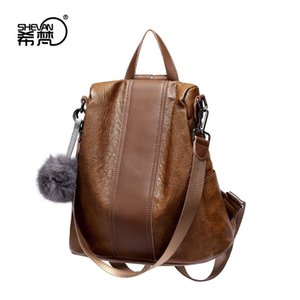 Cool2019 Network Year Entrambe le spalle Trend Ma'am Zaino Donna in vera pelle pacchetto Guangzhou