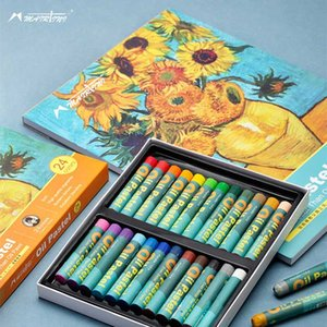 24colors Martini Heavy Color Oily Oil Pastel Soft Oil Pastel Beginner Set Children's Painting Crayons Professional Sketchbook