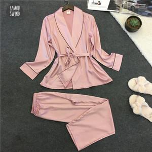 Pijamas Sexy New Banho Mulheres Pijamas Set Robe Verão Lace Nightgown Set tradicional Pijama Pijama Feminino Pajama Vop006