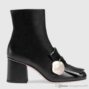 Damen kurze Stiefel 100% peitschen klassische Entwerfer Luxus Frauen-Schuh-Leder mit hohen Absätzen Frauenmetallschnallen Reißverschluss Fashion Stiefel 35-41 Stiefel