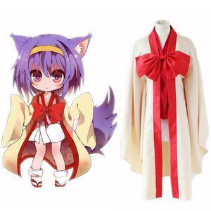 Anime No Game No Life Warbest Hatsuse Izuna Cosplay Disfraces Set completo Kimono japonés Fiesta de Halloween