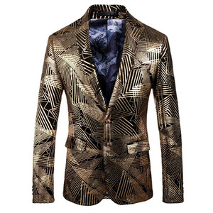 2018 new arrival high quality velvet printed casual blazers men,men's casual suits,casual men's jacket plus-size 202