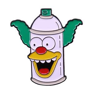 Simpsons lapela pin Krusty o broche de palhaço bonito dos desenhos animados distintivo pop cultura anime presente