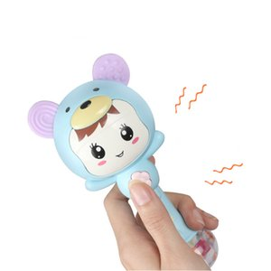 1шт Музыка Младенец Rattle Зубных игрушки BPA Free встряхивание и Возьмитесь руками Intelligence Development прорезыватели Игрушка для новорожденных малышей
