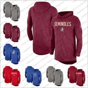الرجال NCAA ولاية فلوريدا Seminoles 2019 هامش كم طويل مقنع الأداء الأعلى الأحمر رمادي حجم S-3XL