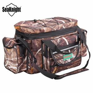 Seaknight sk003 su geçirmez balıkçılık çanta büyük kapasiteli çok fonksiyonlu cazibesi olta takımı paketi açık omuz çantaları 50 * 27 * 28 cm