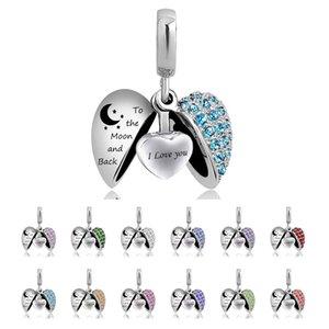 Angel Wing Cremation Jewelry Te quiero para la luna y la espalda Urna Collar de cenizas Recuerdo Memorial colgante