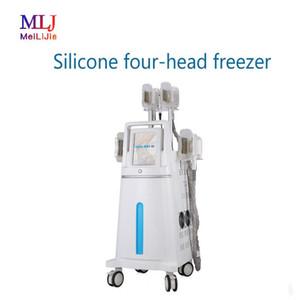 4 kulplu Gelişmiş Taşınabilir Kriyoterapi cryolipolysis kilo kaybı Makine donma şişman dondurulmuş Soğutma Teknolojisi makinesi