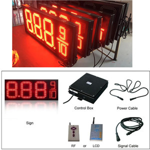 WIFI e RF controle remoto Red Color 12 polegadas Gas Oil Posto de gasolina LED Price Sign