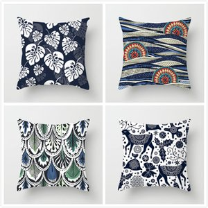 Fuwatacchi Flower Abstract Pattern Pillow Cover Animal Geometric Printed Cushion Cover Home Sofa Chair Decorative Pillowcase