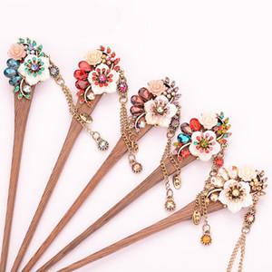 Shell Blumenkopfschmuck Vintage-ethnische Art Holz Hairpin Fashion Retro Quasten Zubehör Hot Sale 5 8QL Ww Hear
