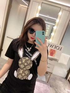 0305 New Sommer Designer-T-Shirts für Damen Kurzarm T-Shirt Kaninchendruck Blusen High-End-Mode Persönlichkeit Neuheit Trend