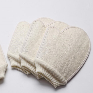 Loofah Schwamm Badhandschuhe Wäsche Peeling Handschuhe Hammam Peeling mitt Magie Peeling Handschuhe Peeling tan Entfernung mitt für Körper SPA