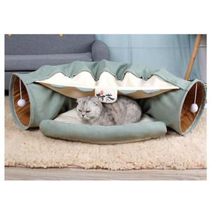 Zusammenklappbar Abnehmbarer Cat Tunnel-Schlauch Pet Interaktive Spiel Spielzeug Ton Papier Ring Bell für Katze Frettchen Welpen