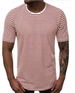 Casual maglietta Estate manica corta girocollo sciolto Stilista di moda maschile Top Mens a strisce gradiente