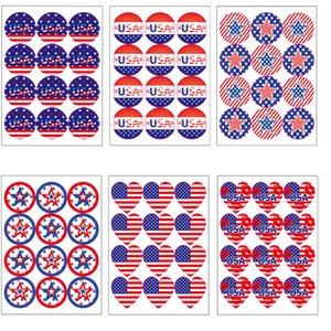 12 Pcs Set Sticker 2020 Trump American Election Supplies US Flag Stickers American Independence Day Stickers Free Shipping DHB205