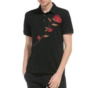 T nuovi uomini dimagriscono camice a maniche corte casuale Plain Stampa T-shirt Tee Top Bianco Nero