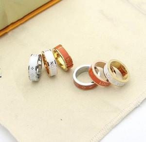 Luxury designer jewelry fashion style hollow V letter ring fashion trend big brand rose gold 18K gold brand new designer high quality 02