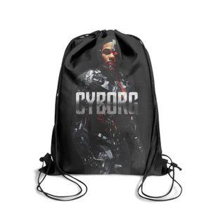 FRESCO Cyborg ilustração de cor Moda Sports Belt Backpack, design retro adequado para Superman Outdoor cartaz vermelho do logotipo AMARELO bule preto