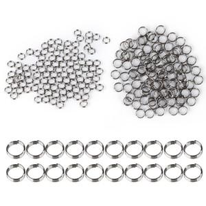 100Pcs / Lot Argento professionale Dart Shaft anelli in acciaio inox per Nylon Dardi Alberi Dart Accessori NY095