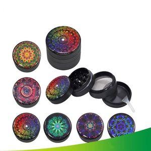 Grinder métal 3D coloré pollen de 50 mm Grinders Presser 3 couches camouflage Grinder tabac à fumer Accessoires LXL933-1