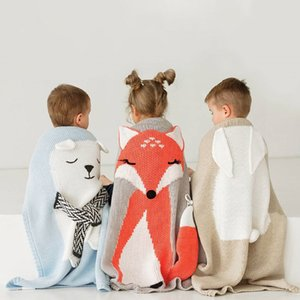 1pc Baby Cotton Blanket 3D Warm Rabbit Knitting Bedding Quilt Blanket For Bed Stroller Wrap Infant Swaddle Baby Photography Prop CX200704