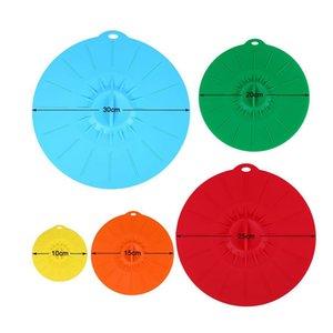 5pcs establece silicona estiramiento tapas Pan cocina la tapa reutilizable fresco Mantener Pan Placa de cocina Herramientas OOA7549
