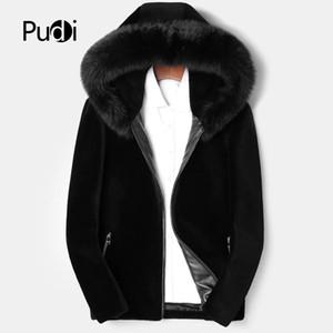 Pudi MT850 2018 giacche uomini nuova moda 100% lana con collo di pelliccia cappa autunno inverno casuale outwear