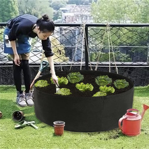 Raised Plant Bed Garden Flower Planter Elevated Vegetable Box Planting Grow Bag Round Planting Pot for Plants Nursery