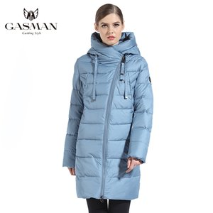 GASMAN 2020 Winter Long Jacket For Women Down Thick Coat Hooded Women Parka Warm Puffer Jacket Female Clothes Plus Size 6XL 180