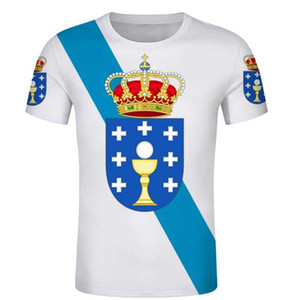 Galicia i Free Custom tshirt SPANISH Galiza tshirts Flag Emblem Tee Shirts DIY autonomous community City Name Number T shirt