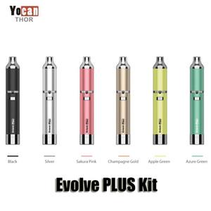Authentische Yocan Evolve PLUS Kits Lila 1100mAh Batterie Wachs Vaporizer Quarz Dual Coil Stealth Wax Vape Pen