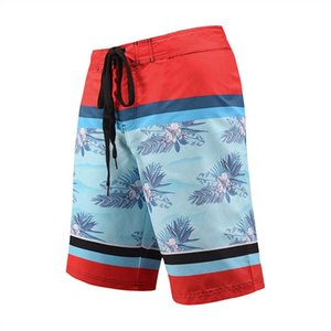 Printed Shorts Striped Elastic Waist Male Beachwears Loose Casual Boys Swimwears with Pocket Summer Mens Floral