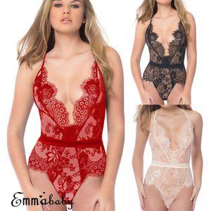 Sexy Frauen-Kleid Babydoll Nachthemd Nachthemd Nachtwäsche Nachtwäsche Sexy Pyjamas Fest Sling Backless Frauen Homewear Neue