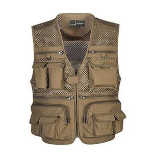Entladen Tactical Vest Mantel Mode Männer Sommer Fotograf Weste Mesh-Arbeit Weste Werkzeug Viele Taschen-Weste Männlich