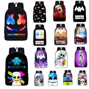 24styles Marshmello DJ Kinder Schultasche Schülerrucksack für Mädchen Jungen Jugendliche Kinder coole Bookbag Kinder Handtasche