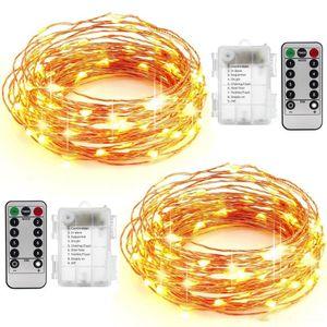 10m 100leds a batteria a conduzione natalizia festa di nozze decorazione Festi LED Filo di rame filo stringa luci di fata lampade