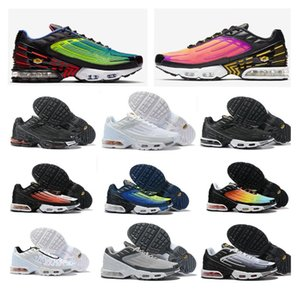 New Tuned Mercuial TN Plus III 3 OG Ultra Mens Running Shoes Male Desig Sports Run Trainers Black White Spider Women Sneakers 36-45