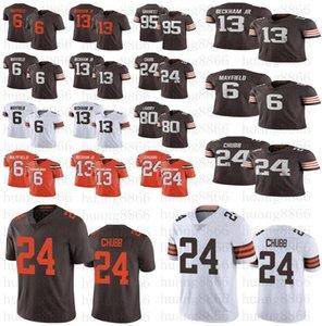 Erkekler kadınlar gençlik Cleveland13 Odell Beckham Jr 2020 Yeni Kahverengi6 Baker Mayfield 95 Myles Garrett Landry 24 Nick Chubb 21 Ward forması