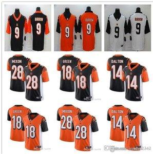 2020 Men Women CincinnatiBengalsYouth 9 Joe Burrow 18 A.J. Green 28 Joe Mixon 14 Andy Dalton 94 Sam Hubbard Football Jerseys Black